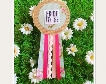 Bride to be Hen Party Rosette Badge
