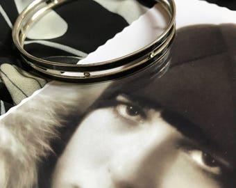 Année 20 Français Antique Vintage Bracelet Art Deco noir et strass Downton Abbey Miss Fisher Garçonne Flapper Rare 100 ans cadeau noël
