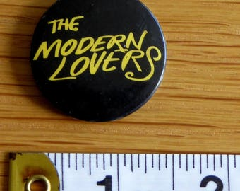 The Modern Lovers - PUNK ROCK Vintage 1970s Tin Badge/Button (Original)