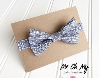 Blue baby bow tie, Toddler bow ties for boys, boys photo prop, toddler bow ties, boys first birthday outfit, kids bow tie, newborn bow tie