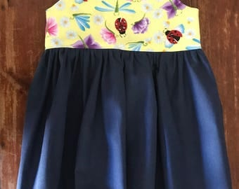 Size 1 Girls dress, Tea Party Dress, Party Dress, Sun Dress, Summer Dress.