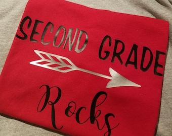 T-Shirt - Second Grade Rocks