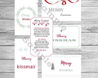 Rodan and Fields Christmas Gift Tags WITH INSTRUCTIONS! / Merry Kissmas / Rodan + Fields / Holiday / Instant Download / Print at Home / Tags