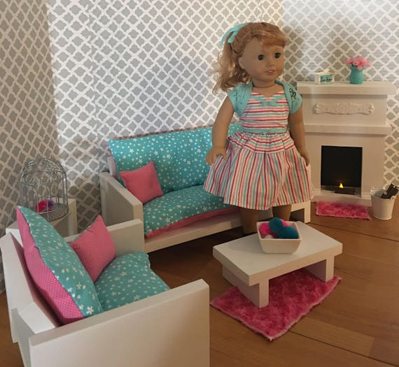 Living Room Set For 18 Dolls Fits The American Girl