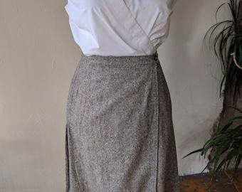 90's Pendleton wool wrap skirt
