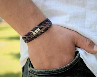 Men's Bracelet Paracord Mens Paracord Bracelet Mens Wrap Bracelet Mens Bracelet Mens Magnetic Clasp Bracelet Mens Vegan Bracelet Boyfriend