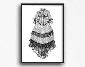 Victorian gothic art   Etsy  Modern Victorian Gothic Clothing