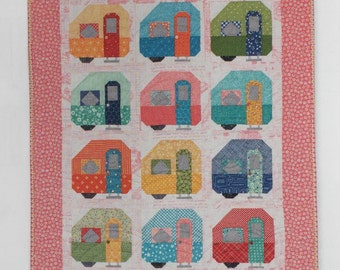 NEW Vintage Life Camper Quilt Kit with Spelling Bee Book Bee Basics by Lori Holt