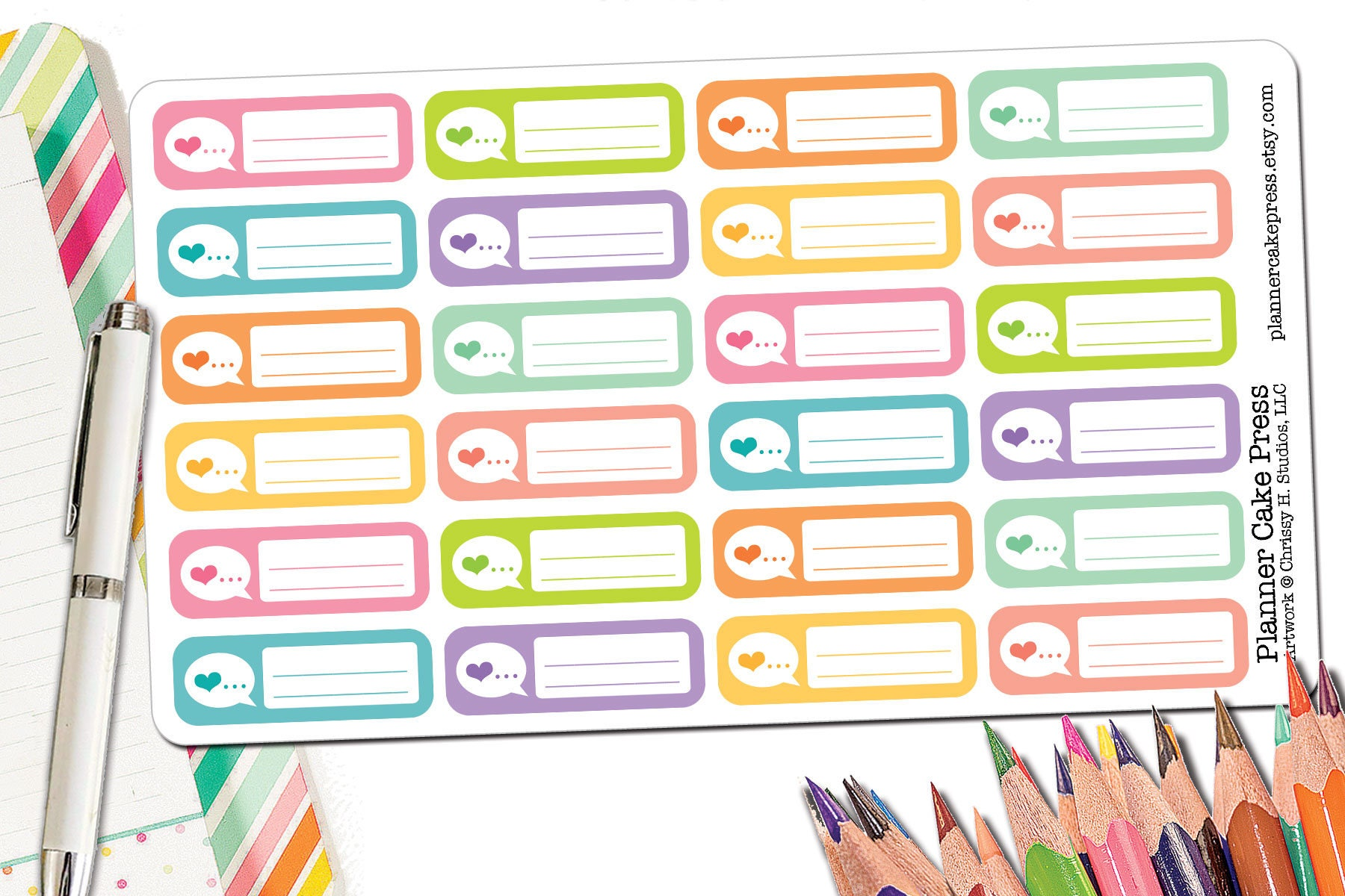 42 speech therapy planner stickers