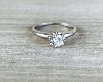 SPECIAL!  Diamond solitaire approx .46ct in 14k white gold