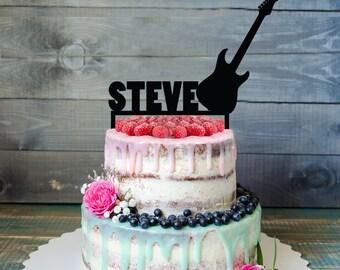 Guitar cake topper Etsy