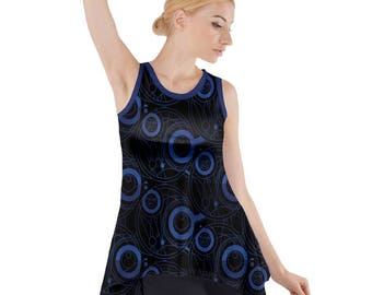 Doctor Who Tunic - Sleeveless Tunic Dr Who Tunic Cosplay Tunic Comicon Tunic Plus Size Tunic Sci-Fi Tunic Gallifreyan Tunic Doctor Who Top
