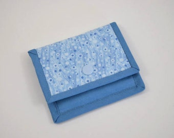 Gift Card Wallet, Mini Wallet, Gift Card Holder, Blue Fabric Gift Card Wallet, Card Wallet, Fabric Mini Wallet, Fabric Gift Card Wallet
