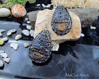 Steampunk vintage earrings