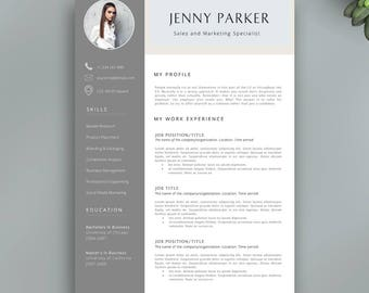 A Resume For A Job Excel Resume Templates  Etsy Resume Cover Letter Word with Chiropractic Resume Excel Professional Resume Template  Multipurpose Cv Template   Different Pages  In Total  Creative Objective In A Resume Word