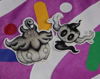 Pumpkaboo and Phantump stickers