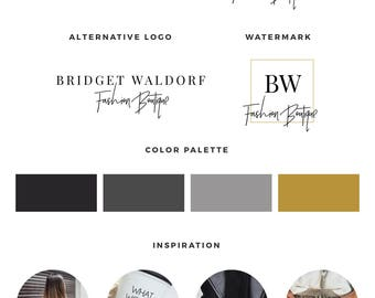 Blog logo kit, Blog branding kit, Premade logo, Watermark, Calligraphy logo, Photography logo, Branding kit design, Premade logos