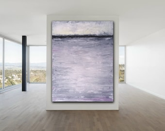 Gray ABSTRACT PAINTING Custom Unstretched Painting Modern Art Gray Painting XLarge Canvas Art Minimalist Painting Huge Abstract Art