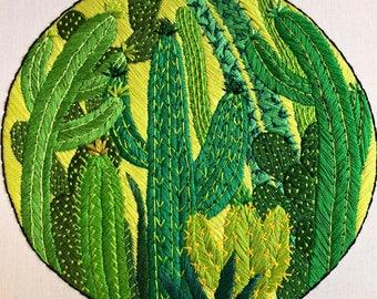 Cactus Garden Embroidery Hoop by CoriCrafts
