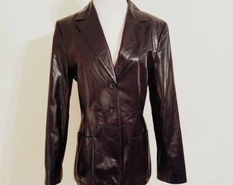 Vintage Leather Blazer, Black Leather Blazer, Vintage Black Leather, Vintage Blazer, Vintage Jacket, Black Leather Jacket