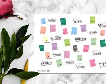 Kawaii Bible Study Stickers, Erin Condren Stickers, inkWell Press Stickers, Happy Planner Stickers | b086