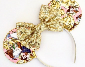 The Tale As Old As Time - Disney Beauty and The Beast Inspired Mouse Ears Headband
