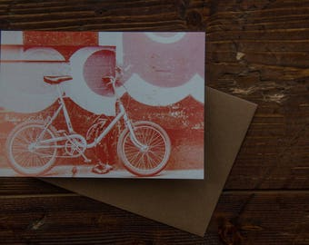 Card for cyclist / Bicycle card / Cycling card / Birthday card for cyclist / Bicycle lover /