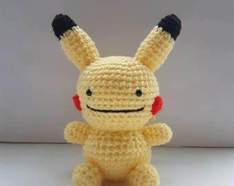 Dittochu amigurumi/crochet | Pikachu Pokemon plush | Ditto plush | gifts for him | gifts for her | [Made to order]