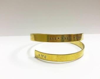 Personalized Wrap Around Bracelet (Brass)