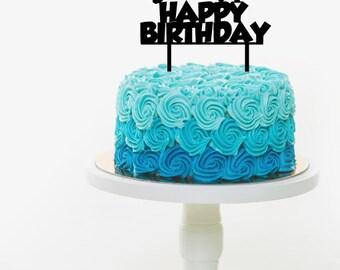 Basketball, dunk shot Happy Birthday cake topper