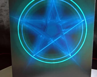 Pagan Wiccan Pentagram Pentacle Festival Greetings Card