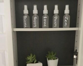 Spray Bottles Set of 5 - white glass 1oz