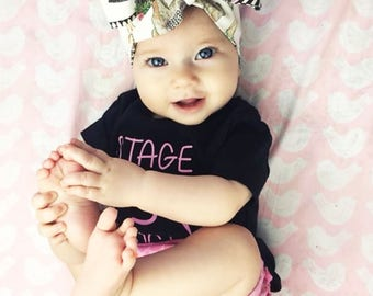 Llama Headwrap- Llama Headband; Llama Bow; Baby Headband; Baby Headwrap; Newborn Headband; Newborn Headwrap; Toddler Headband; Headwrap