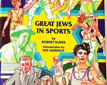 great jews in sports by robert slater vintage book circa 1983 great book lover