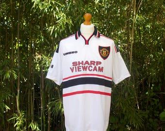 UMBRO X MANCHESTER UNITED Away Shirt 1997-99 - Size Extra Large