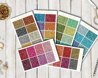 Glitter Headers, Glitter stickers for all planners   56 glossy stickers   by KnotAnotherDay
