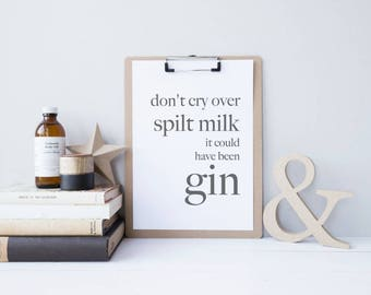 Gin Print, Gin Poster, Home Bar Decor, Minimalist Home Decor, Kitchen Wall Art, Alcohol Gifts, Bar Art, Gift for Bestfriend, Bar Decor