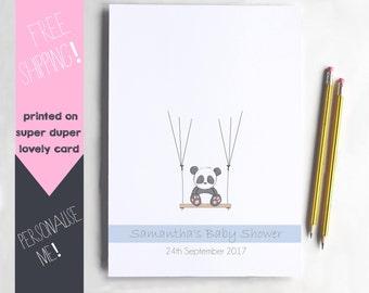 Baby Shower Thumbprint Guest Book, Fingerprint Alternative Guestbook, Panda Nursery Art, Personalised Guest Book, Baby Shower, Keepsake