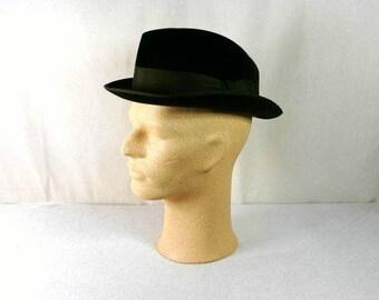 Vintage Brown Stevenson & Sons Hat Al Capone Hat Vintage Hat For Men Handmade Hat