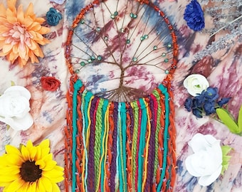 Tree of life dreamcatcher, tree dream catcher, large gypsy dreamcatcher, colorful baby nursery dreamcatcher, dream catcher, dreamcatcher