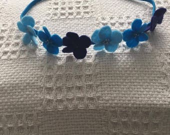 Sky and sea elastic headband