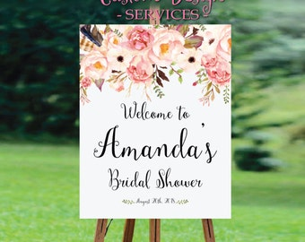 Bridal Shower sign, Bridal Shower Welcome Sign, Bridal Shower decoration, PRINTABLE Welcome sign, Bridal shower welcome sign - US_BS0103b