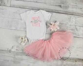 Mommy's little girl shirt / mom shirt / cute kids shirt / little girl shirt / mother's day / mommy's girl shirt/ baby shower gift
