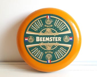 Old Dutch Gouda cheese wheel 'Beemster' * plastic decoration cheese wheel * farmhouse decor * kitchen decoration