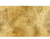10 cm Wide Map Washi | Vintage Map Wide Washi | Planner Tape | Journaling Tape | Scrapbooking Washi Tape | Ancient Map Washi