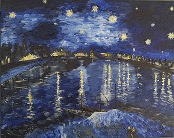Starry Night Acrylic Painting