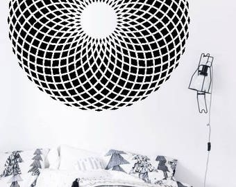 Full Mandala H6 - Home or Office Wall Mandala - BLACK Vinyl Decal
