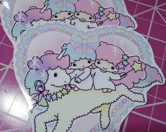Little Twin Stars Fan Art Vinyl Sticker