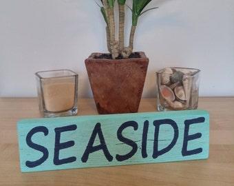 Seaside Beach - Wood Sign - Florida - 30A - Rustic - Barn Wood