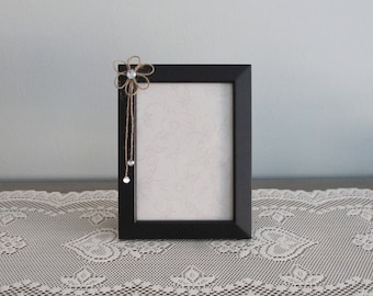 Dark Brown and Jute Picture Frame